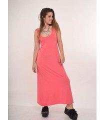 vestido coral al aniz long