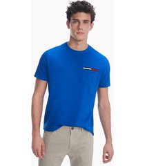 tommy hilfiger men's essential pocket t-shirt cobalt - m