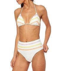 chevron-stitch bikini top
