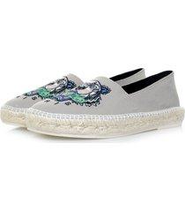 kenzo slit canvas tiger grey shoe m61526 e17