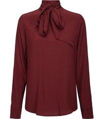 darlene blouse burgundy silk blouse