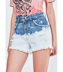 short hot pants cintura alta em jeans