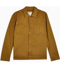 mens selected homme brown popper lightweight jacket