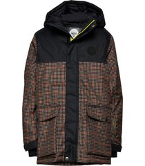 hmllothar jacket parka-jas bruin hummel