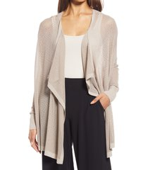 women's nordstrom mesh open cardigan, size x-large/xx-large - brown