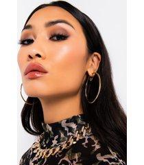 akira coriana core hoop earrings