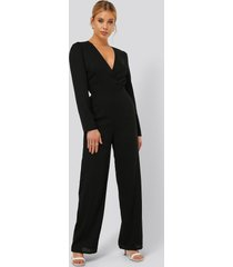 na-kd party jumpsuit - black