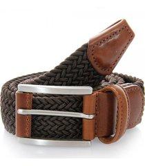 anderson's belts elastic woven belt | brown | af2949-m1