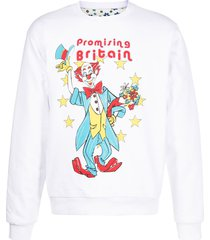 martine rose reversible clown and flowers illustrated sweatshirt -