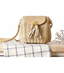 sexy straw handmade bag ladies woven straw message bag flap shoulder bag handbag