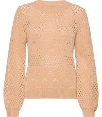 nubexley pullover stickad tröja rosa nümph