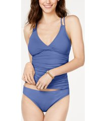 la blanca strappy-back underwire tankini top women's swimsuit