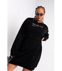 akira plus sell your soul long sleeve lace up mini sweater dress