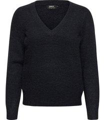 onlcorinne l/s v-neck pullover knt stickad tröja blå only