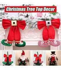 decoración del árbol de navidad primeros ornamento de navidad colgante de zapatos de santa muñeco de nieve del sombrero - verde