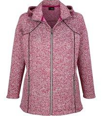 fleece vest miamoda berry
