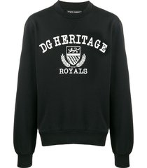 dolce & gabbana dg heritage royals sweatshirt - black