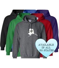 alaska hoodie sweatshirt love home heart unisex men women state
