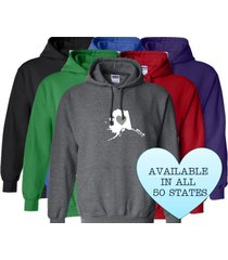 alaska hoodie sweatshirt love home heart unisex men women state
