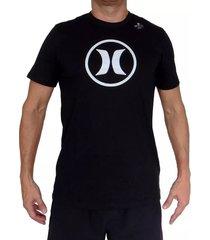camiseta hurley df circle icon para hombre - negro