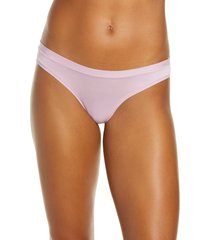 women's madewell softest stretch modal thong, size x-small - purple