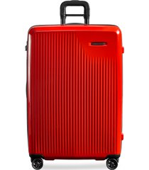 sympatico large expandable spinner suitcase - fire