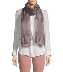 saachi women's star gazer embellished silk scarf - amethyst