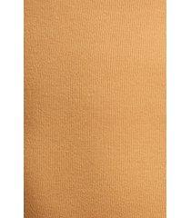 women's bp. picot trim cotton blend rib bodysuit, size large - brown