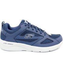 zapatilla skechers para hombre 58363 - nvy lace-up - azul