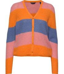 d1. striped woolblend cardigan stickad tröja cardigan multi/mönstrad gant