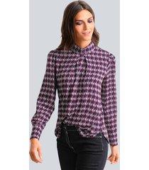 blouse alba moda marine::lila