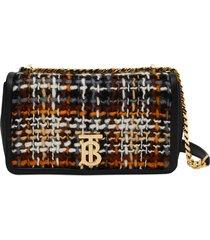 burberry lola tweed crossbody bag - black