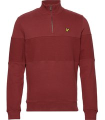 contrast panel funnel neck sweat-shirt trui rood lyle & scott