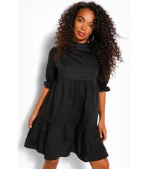 petite high neck smock dress