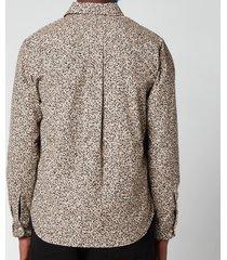 kenzo men's printed casual shirt - beige - 42/17