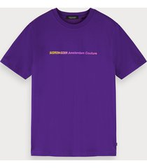 scotch & soda t-shirt met logodecoratie met kleurovergang