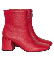 lez a lez - bota salto bloco zíper couro vermelho bulgaria