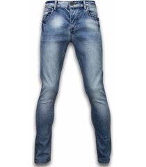 jeans true rise basic jeans - stone washed skinny fit -