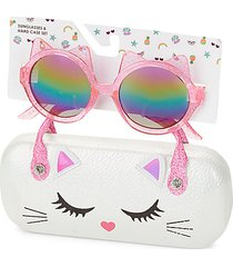 girl's 2-piece sunglasses & hard case set