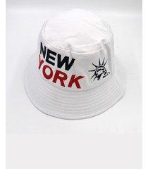 gorra de pescador con estampado de letras para hombre