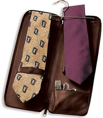 genuine leather travel tie carrying case