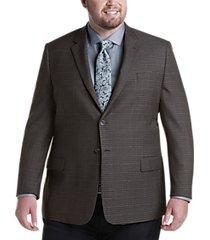 pronto uomo platinum executive fit sport coat olive check