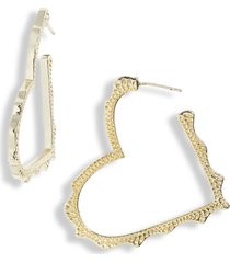 women's kendra scott sophee heart hoop earrings