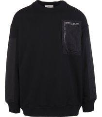 man black bimaterial givenchy sweatshirt