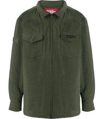 032c logo zipped shirt - green