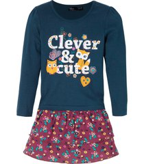 långärmad topp och kjol för flickor (2 delar)