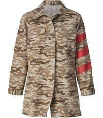 jacka med kamouflagemönster angel of style beige