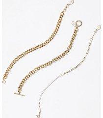 loft chain link bracelet set