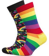 2-pack pride socks gift set underwear socks regular socks multi/mönstrad happy socks