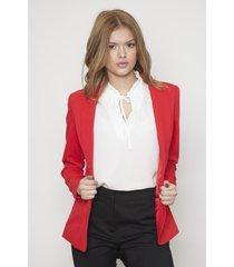 blazer de mujer rojo 609 seisceronueve